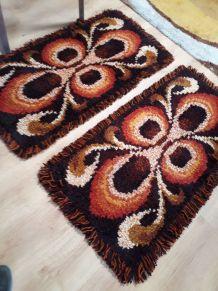 tapis  de lit 70s  vintage
