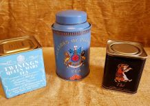 Lot 3 boîte en métal thé