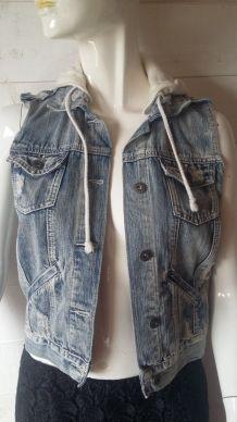 Veste  en gilet Jeans destroy   jennyfer