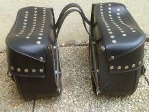 sacoches moto anciennes Cavalières Travel Bags Noir, cuir