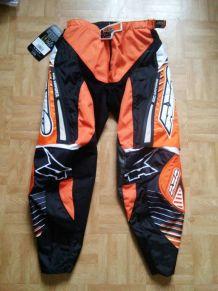 Pantalon moto AXO Orange