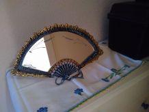 miroir eventail bronze