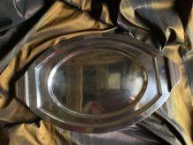 Plat à poisson métal argenté 1930 art deco