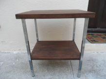 Table pieds chromés Vintage 70's TBE