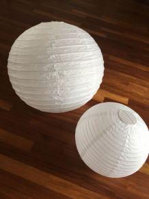 Lot de lustres boules japonaises