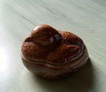 Pigeon céramique brun