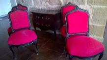 Chaises style Louis vx