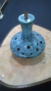 Pied de lampe vintage en céramique