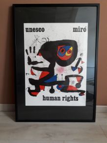 Affiche Miro Human Rights