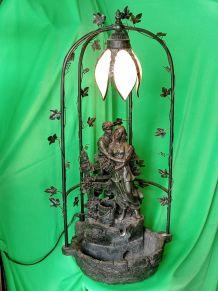 Fontaine et luminaire en bronze