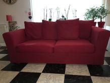 Canapé rouge Watson fixe 3 places