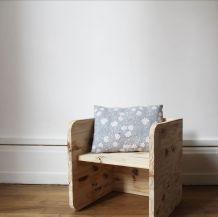 Chaise bois brut pour enfant Montessori évolutive