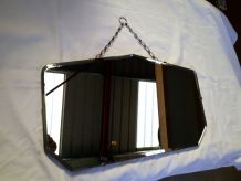 miroir octogonale biseaute 1950