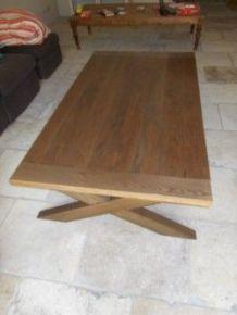 Grande table basse en chêne