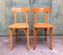2 chaises bistrot vintage années 50