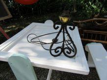 Petite lampe à poser en fer forgé 17 cm x 10 cm pour petite