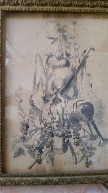 Tableau ORNEMENT Février 1901 Pin M