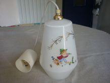 Suspension vintage opaline pour chambre enfant