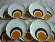 10 assiettes vintage porcelaine Winterling