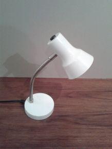 Lampe de bureau vintage blanche