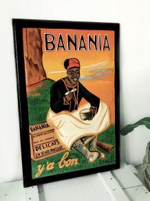 """Tableau décoratif en bois sculpté """"Banania"""""""