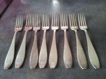 fourchettes en métal argenté