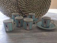 6 Tasses à café Christian Lacroix