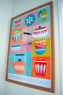 Affiche A2 cuisine, inspiration scandinave
