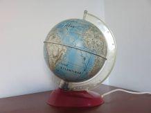 Globe terrestre mappemonde lumineux MS Germany années 60 70