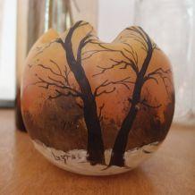 Vase boule Legras