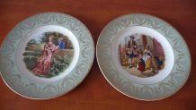 Deux assiettes anciennes style rococo