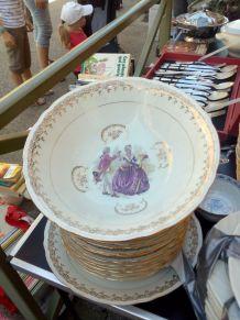 Service de table en porcelaine véritable 27 pièces