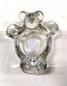 Cendrier en cristal  en forme d'Ourson