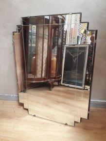 grand miroir art deco biseaute