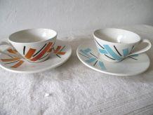 duo de tasses à café vintages