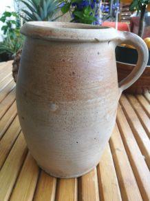 cruche en terre cuite à anse- art populaire-poterie