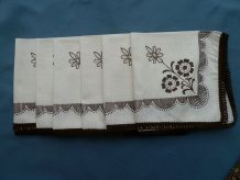 lot de 6 serviettes de table ,vintage