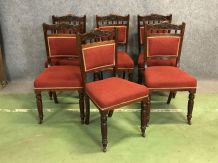 Suite de 6 chaises fin XIXème en acajou