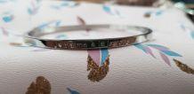 Bracelet à Message Acier Inoxydable Argent
