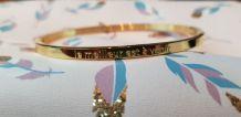 Bracelet à Message Acier Inoxydable Doré