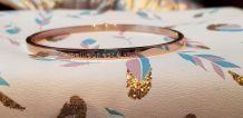 Bracelet à Message Acier Inoxydable Cuivre