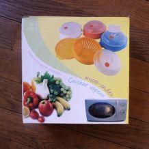 Cuit Vapeur Micro Onde En Plastique Orange- Cmp- Neuf