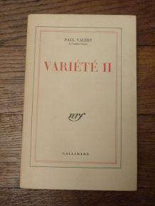 Variete 2 - Paul Valéry - Gallimard
