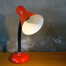 Lampe de  bureau en métal orange vintage