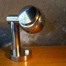 Lampe vintage en métal chromé