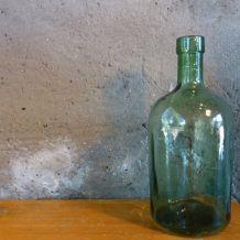 Grande bouteille en verre transparente 34 cm