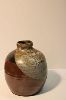 Vase boule en grès émaillé