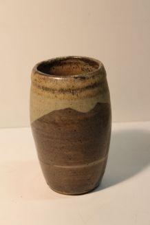 Vase en grès émaillé bicolore