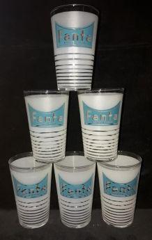 6 anciens verres FANTA