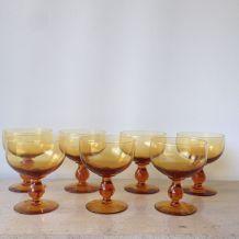 Coupes à champagne  en verre bullé